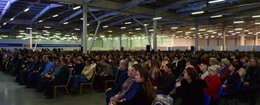 «Аскания Юг» организовала кофе-брейк для 3500 тыс. человек на Форуме «Крымская весна – выбираем будущее»
